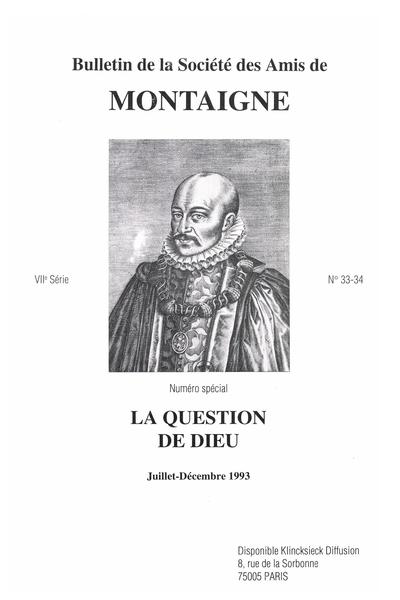 Bulletin de la Société des amis de Montaigne. VII, 1993-2 n° 33-34. varia
