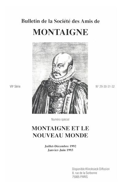 Bulletin de la Société des amis de Montaigne. VII, 1993-1 n° 29-32. varia