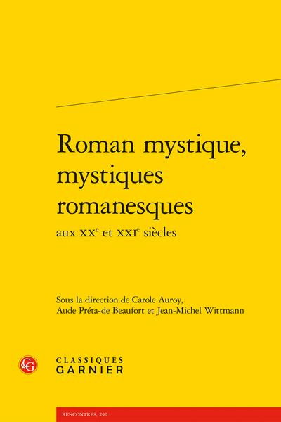 Roman mystique, mystiques romanesques aux XXe et XXIe siècles - Index