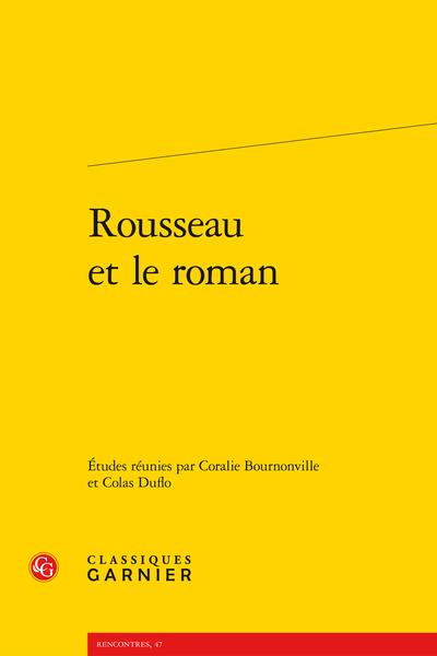 Rousseau et le roman