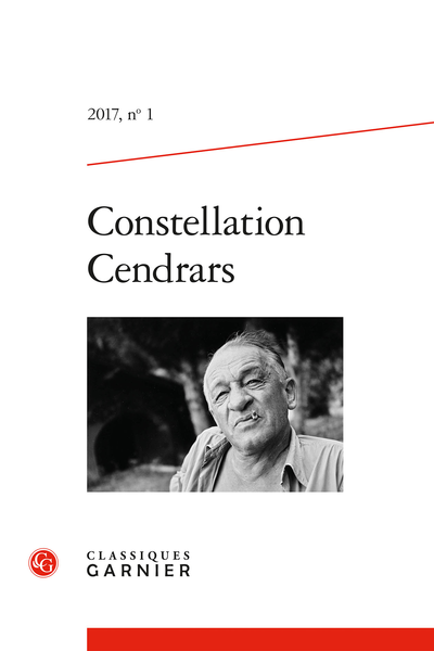 Constellation Cendrars. 2017, n° 1. varia - Évènements 2015-2017