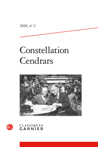 Constellation Cendrars. 2018, n° 2. varia