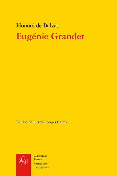 Eugénie Grandet - Note préliminaire