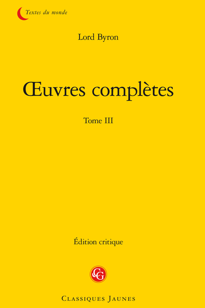 Œuvres complètes. Tome III
