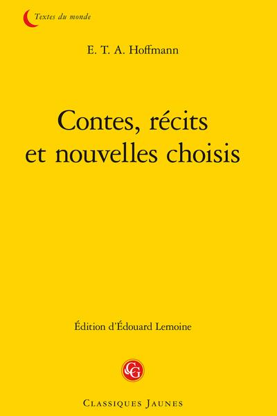 Contes, récits et nouvelles choisis