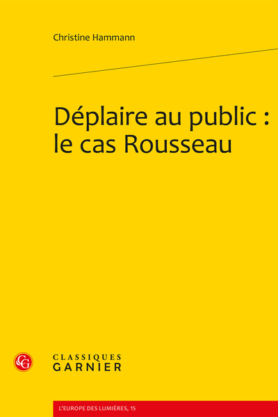 Déplaire au public : le cas Rousseau - Index des noms