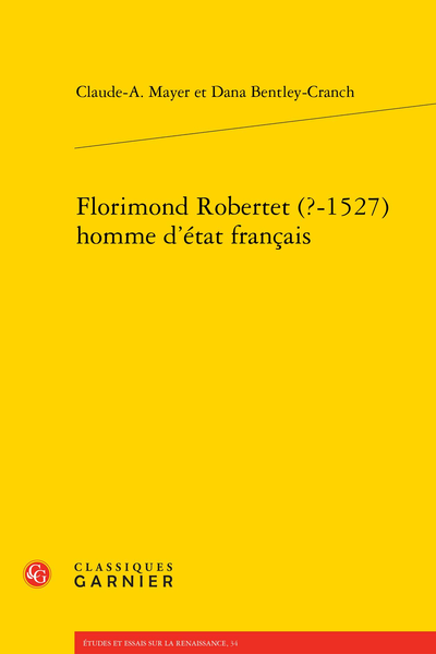 Florimond Robertet (?-1527) homme d'état français