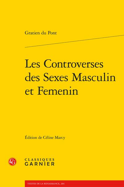 Les Controverses des Sexes Masculin et Femenin
