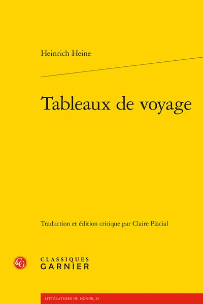 Tableaux de voyage - Établissement du texte