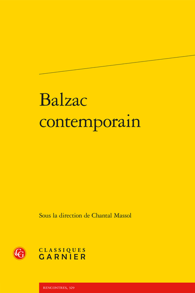 Balzac contemporain - Introduction