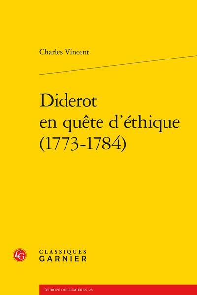 Diderot en quête d'éthique (1773-1784)