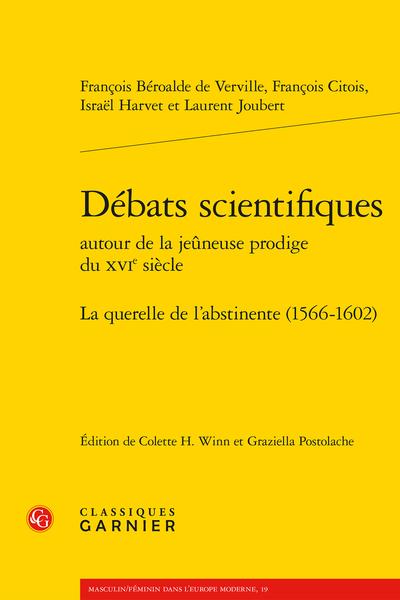 Débats scientifiques autour de la jeûneuse prodige du XVIe siècle. La querelle de l'abstinente (1566-1602)