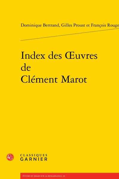 Index des Œuvres de Clément Marot