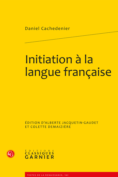 Initiation à la langue française - Introduction