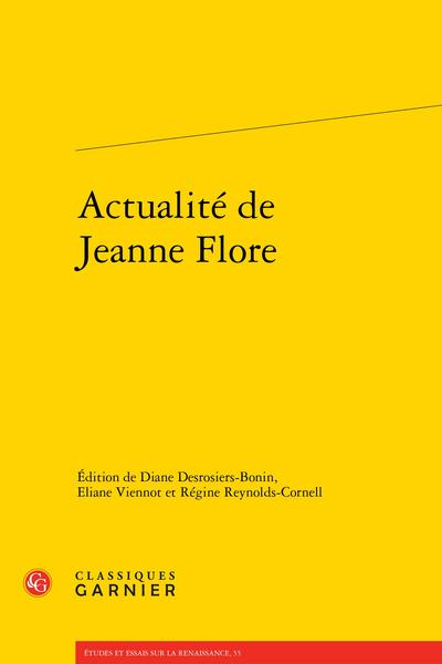Actualité de Jeanne Flore