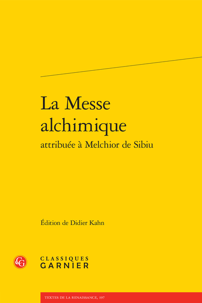 La Messe alchimique attribuée à Melchior de Sibiu - Traduction tchèque de Bavor Rodovský