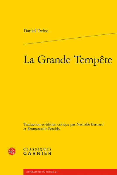 La Grande Tempête - Index des notions