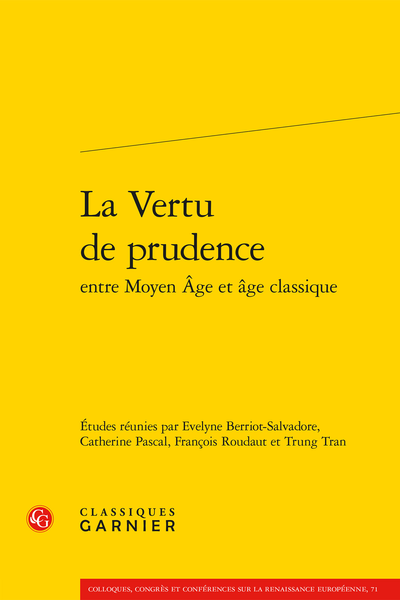 La Vertu de prudence entre Moyen Âge et âge classique