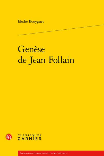 Genèse de Jean Follain