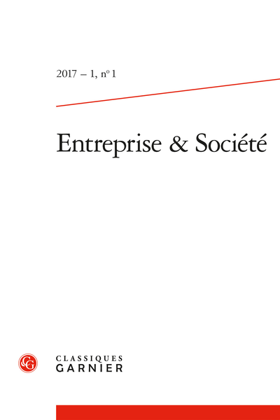 Entreprise & Société. 2017 – 1, n° 1. varia - Finance and sustainability (FAS) – 2009-2015