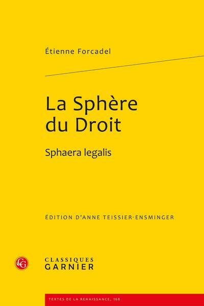 La Sphère du Droit. Sphaera legalis