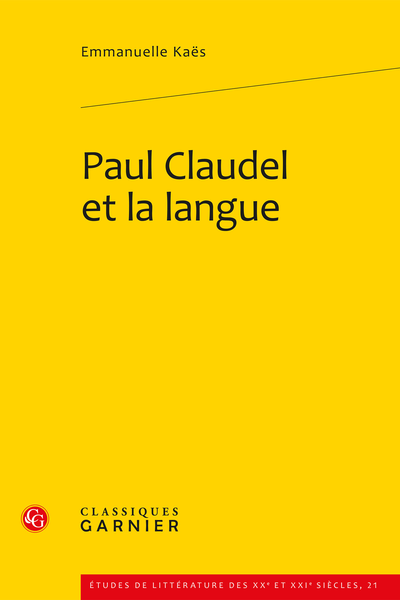Paul Claudel et la langue - Index