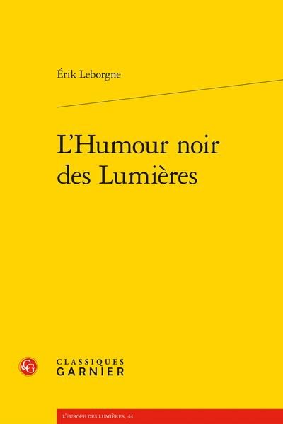 L'Humour noir des Lumières