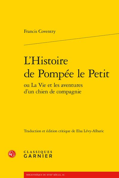 L'Histoire de Pompée le Petit ou La Vie et les aventures d'un chien de compagnie