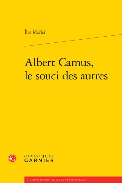 Albert Camus, le souci des autres - Index des noms