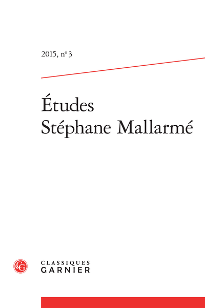 Études Stéphane Mallarmé. 2015, n° 3. varia