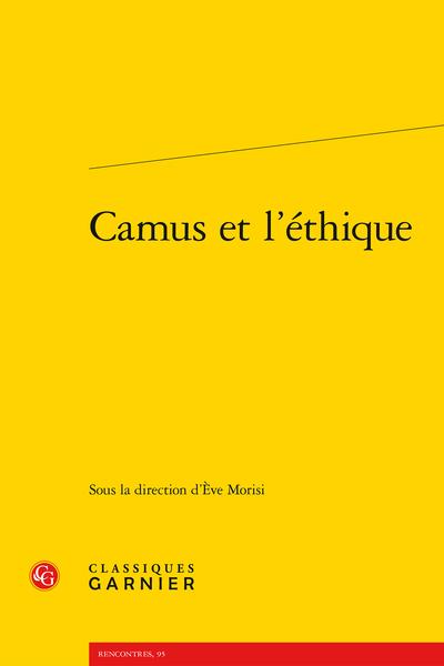 Camus et l'éthique