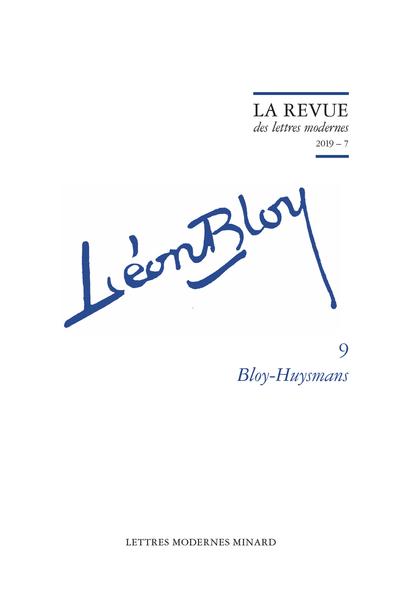 Bloy-Huysmans. 2019 – 7