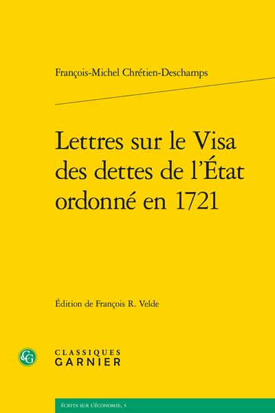 Lettres sur le Visa des dettes de l'État ordonné en 1721