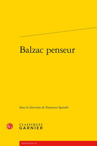 Balzac penseur