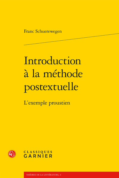 Introduction à la méthode postextuelle. L'exemple proustien