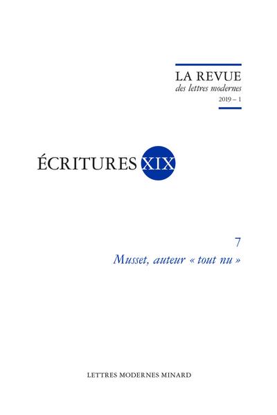 Musset, auteur « tout nu ». 2019 – 1