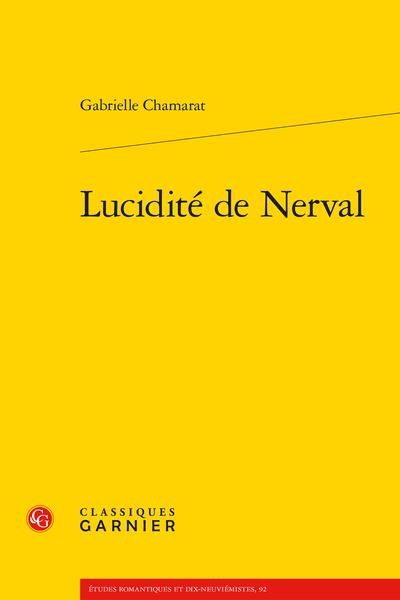Lucidité de Nerval