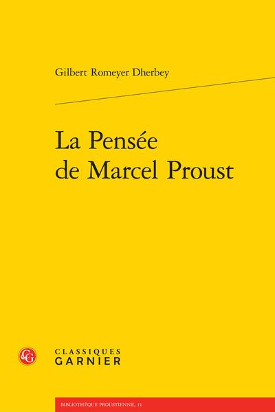 La Pensée de Marcel Proust