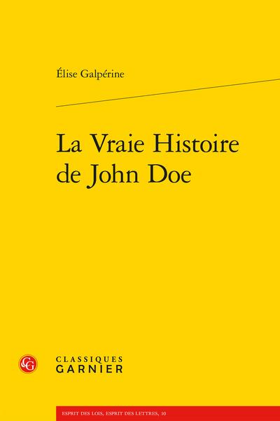 La Vraie Histoire de John Doe