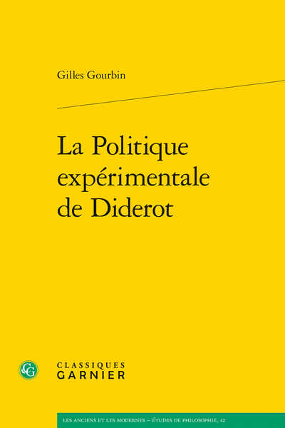 La Politique expérimentale de Diderot - Bibliographie