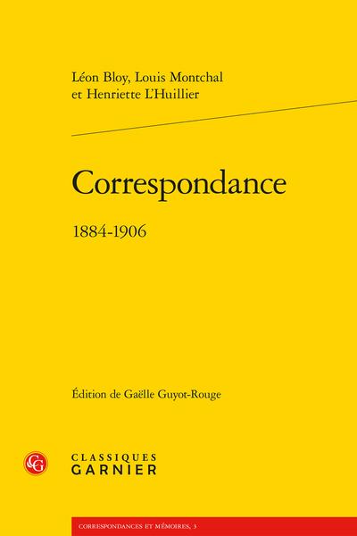 Correspondance. 1884-1906