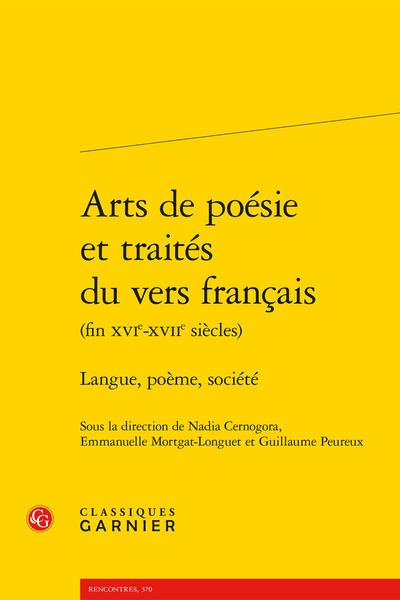 Arts de poésie et traités du vers français (fin XVIe-XVIIe siècles). Langue, poème, société - Index des notions