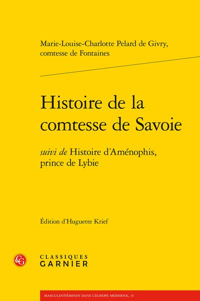 Histoire de la comtesse de Savoie. suivi de Histoire d'Aménophis, prince de Lybie - Introduction