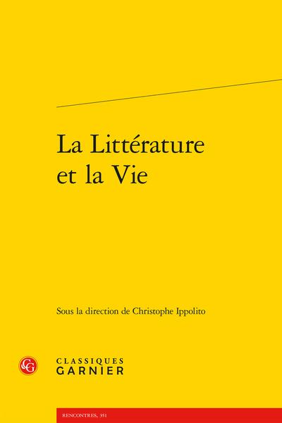 La Littérature et la Vie