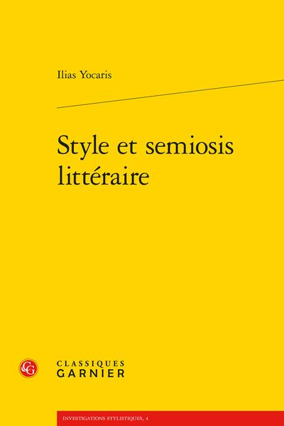 Style et semiosis littéraire