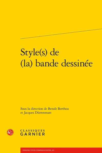 Style(s) de (la) bande dessinée