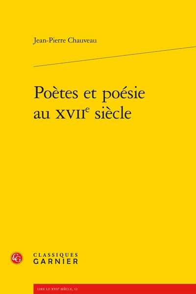 Poètes et poésie au XVIIe siècle