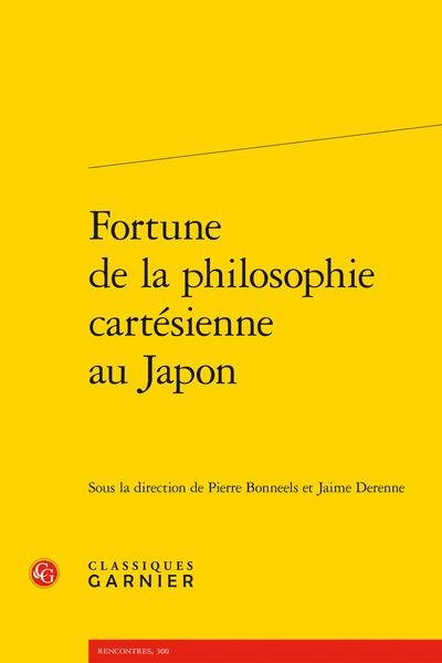 Fortune de la philosophie cartésienne au Japon