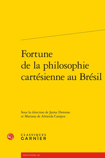 Fortune de la philosophie cartésienne au Brésil