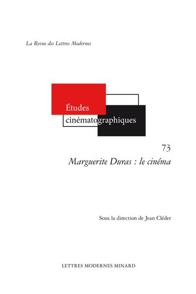 Marguerite Duras : le cinéma